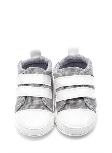 First Step Cırt Cırtlı Bebek Patik -G-2311 Gri